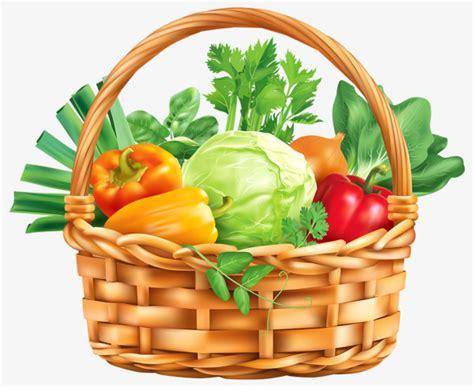 vegetable clip a basket of vegetables vegetables clipart a basket