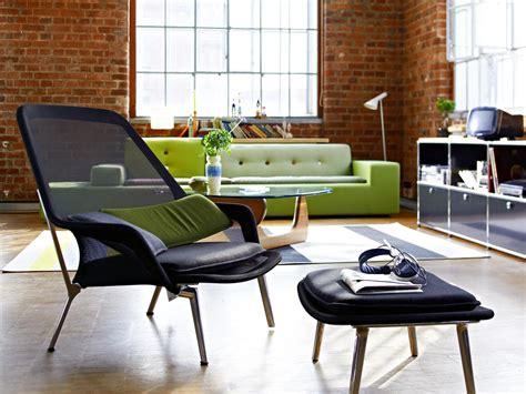 Vitra slow chair ottoman base polished black by ronan amp erwan bouroullec 2007 designer