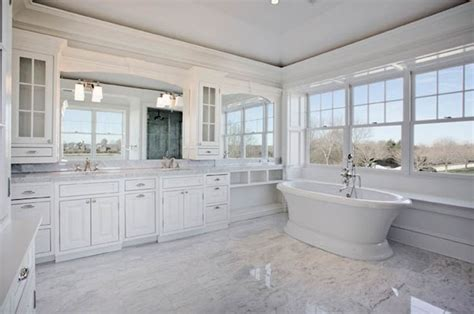 master bathroom white master bath carrera marble floor tile in place of