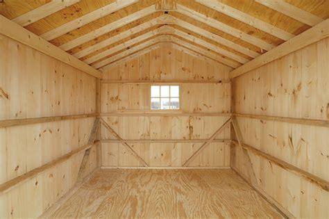 garage interior custom barns  buildings