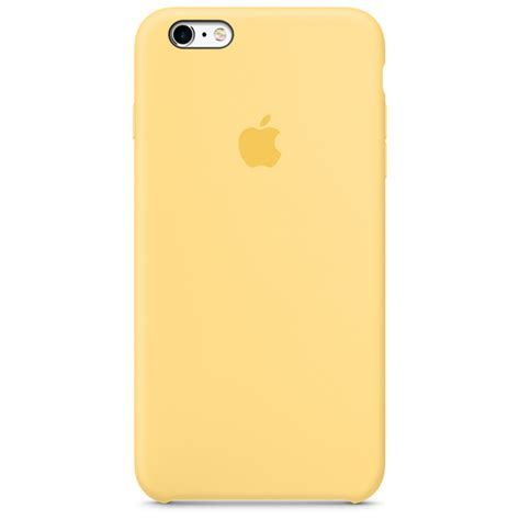 iphone 6s plus silicone yellow apple