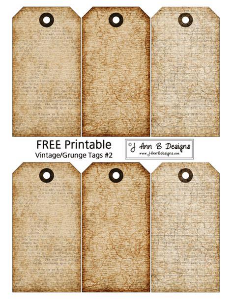printable vintage tags template j ann b designs vintage grunge tags 2 free printable