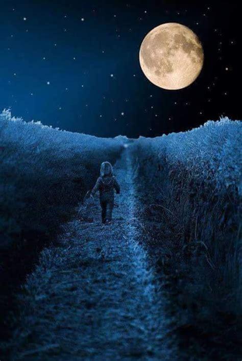 google imagenes de la luna paisajes de noche con estrellas fugaces y luna con