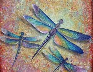 Dragonfly Duvet Cover Dragonflies Painting By Gabriela Valencia