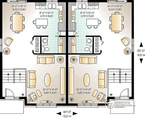 attractive two family home plan 21245dr cad available