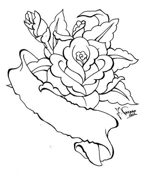 rose scroll tattoo designs line drawing clipart best