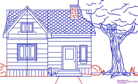 easy houses to draw how to draw a house step by step buildings landmarks