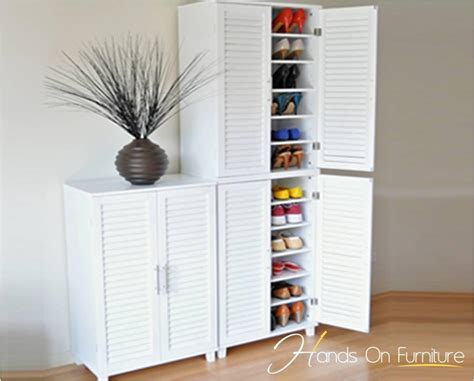 shoe storage sydney brand new white louvre door 36 pairs shoe storage cabinet