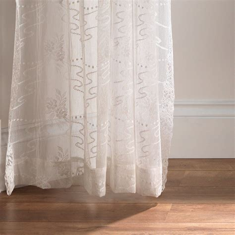 cream lace net curtains dunrobin cream lace fabric only from net curtains direct
