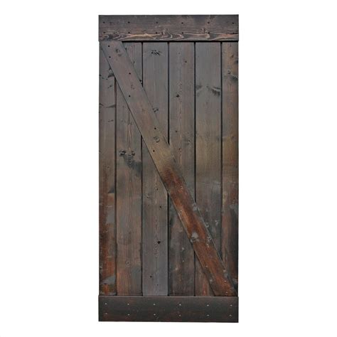 Pine Sliding Closet Doors Calhome 36 In X 84 In Chocolate Stain Knotty Pine Sliding Interior Barn Door Slab Door