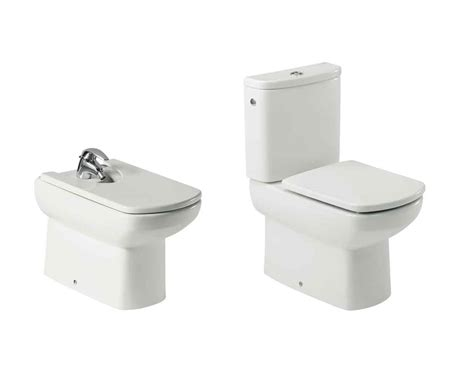 Roca Bidet Toilet bidet and toilet set roca dama senso fall cushioned in white