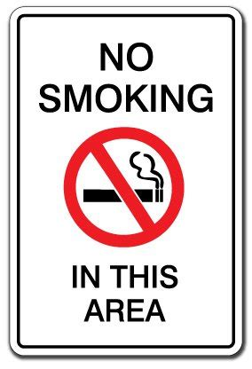 no smoking sign funny no smoking in this area warning sign indoor outdoor