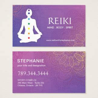 Reiki Business Cards reiki business cards templates zazzle