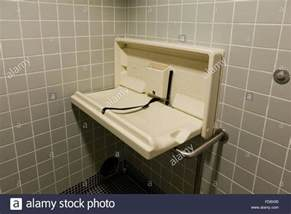 Changing Table In Bathroom Folding Baby Changing Table In Restroom Usa Stock Photo Royalty Free Image 94238625