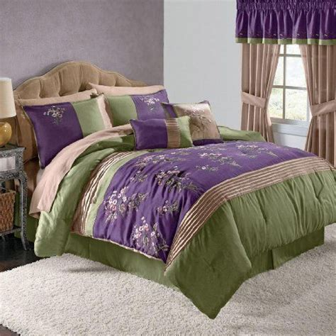 purple and green bedding brylanehome arles 6 pc embroidered comforter set by