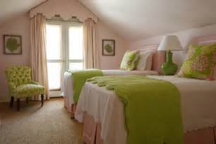 pink and green girl s bedding traditional girl s room