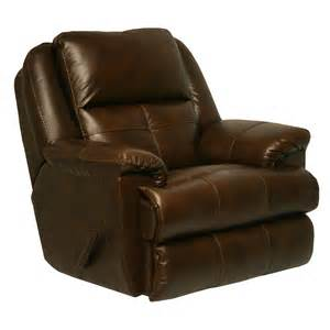 Leather Swivel Recliner Catnapper Crosby Leather Swivel Glider Recliner Tobacco