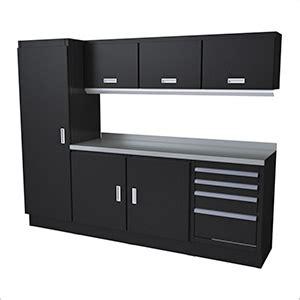 Granit Black Forest 3999 by Select Series 8 Aluminum Garage Cabinet Set Black