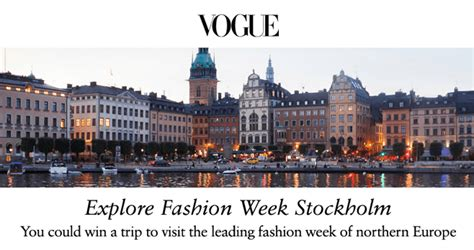 Vogue Magazine Sweepstakes - vogue stockholm sweepstakes 2017 vogue com stockholmsweeps