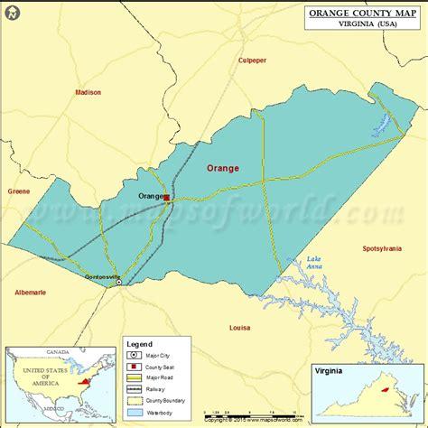 orange county usa map orange county map virginia