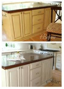 beautiful How To Remove Dirt And Grease From Kitchen Cabinets #2: islandbeforeandafter_thumb.jpg