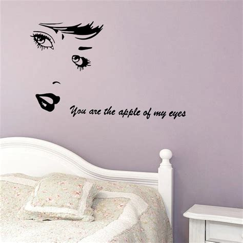 aliexpress com buy hello beautiful quotes wall decals vinyl stickers for bedroom or bathroom aliexpress com buy you are the apple of my eye