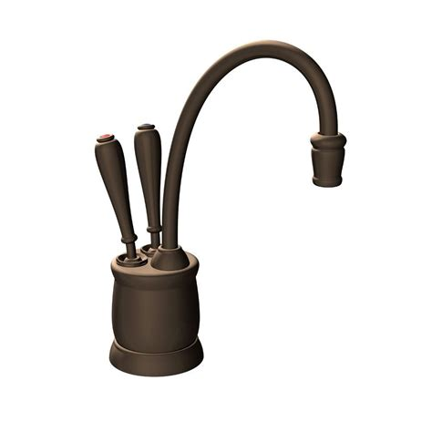Water Dispenser Faucet insinkerator indulge tuscan 2 handle instant and cold water dispenser faucet in mocha bronze
