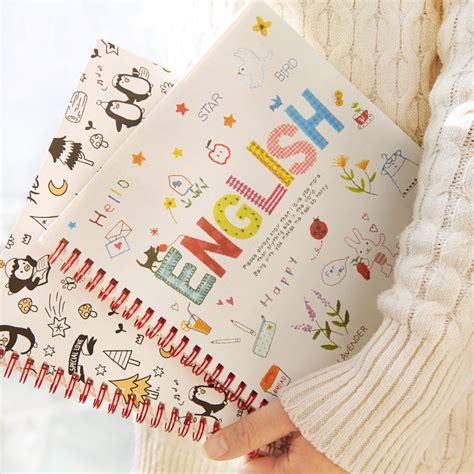 aliexpress in english new creative cute b5 english words coil book language