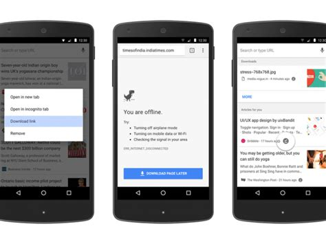 offline android chrome for android 58 facilite la lecture de pages offline