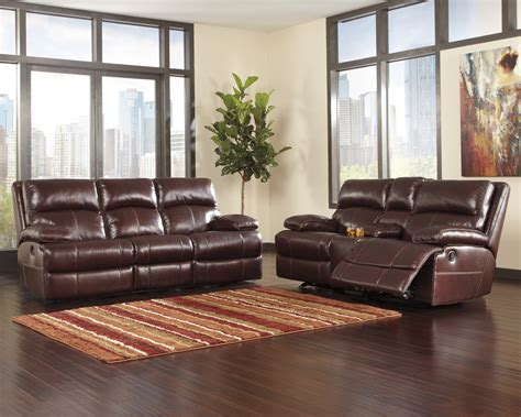 Leather Power Reclining Sofa Set Leather Power Reclining Sofa Set