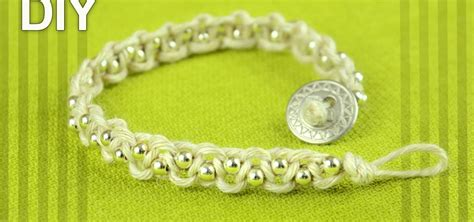 Easy Bracelet with Beads and Button Clasp   Tutorial « Jewelry :: WonderHowTo