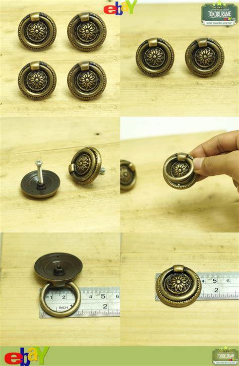 cabinet knob and pull sets set of 4 pcs vintage floral back plate ring pull hardware