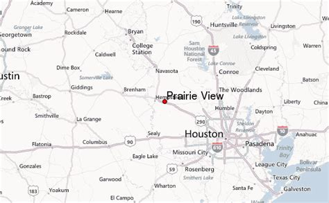 prairie view texas map prairie view location guide