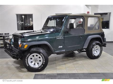 2000 forest green pearl jeep wrangler se 4x4 43991164 gtcarlot car color galleries