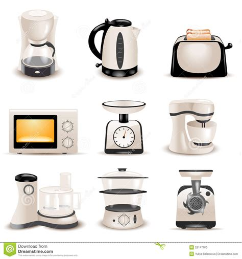 list of kitchen appliances kitchen appliances stock photo image 25147780