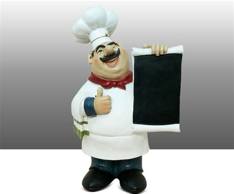 Chef Statue For Kitchen by Chef Kitchen Statue Figure Holding Menu Board Table