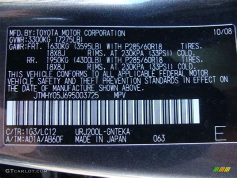 image gallery 2009 toyota codes