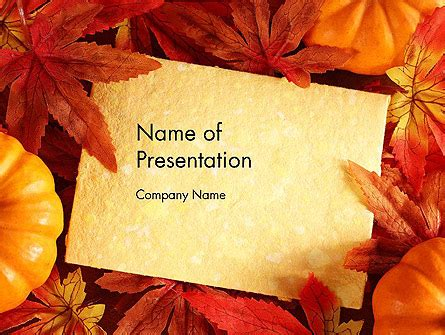 Thanksgiving Card Presentation Template For Powerpoint And Keynote Ppt Star Thanksgiving Powerpoint Templates