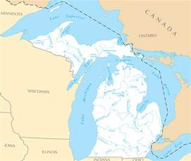 Michigan Lakes Map by Pin Physical Map Of Michigan Equirectangular Projection On