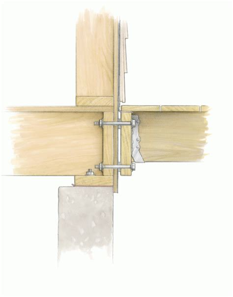 how to attach deck to house how to attach a deck ledger to the house fine homebuilding