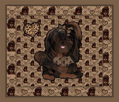 shih tzu fabric shih tzu leopard panel fabric sherry savannah spoonflower