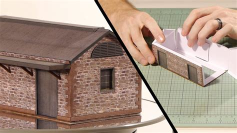 How To Make Paper Building Models - paper building kits model railroad scenery