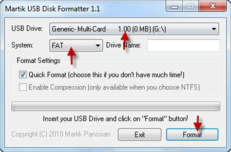 tool format flash disk repair v 2 9 1 1 format flash drive with martik usb disk formatter free