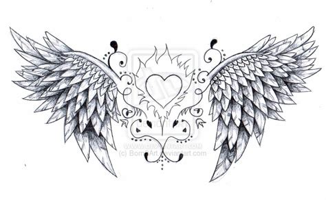 small heart with angel wings tattoo designs with wings tattoos designs ideas