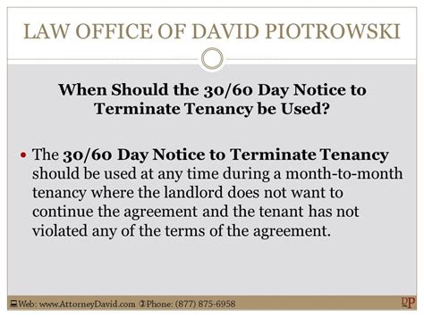 Sle 30 Day Notice To Terminate Tenancy by California 30 60 Day Notice To Terminate Tenancy Sle