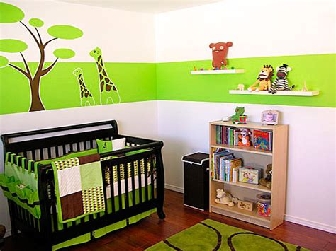 Green Nursery Decor Modern Baby Rooms Decorations My Desired Home