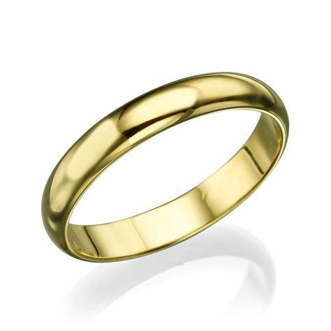Men's Gold Wedding Band   3.6mm Solid Yellow Gold Ring