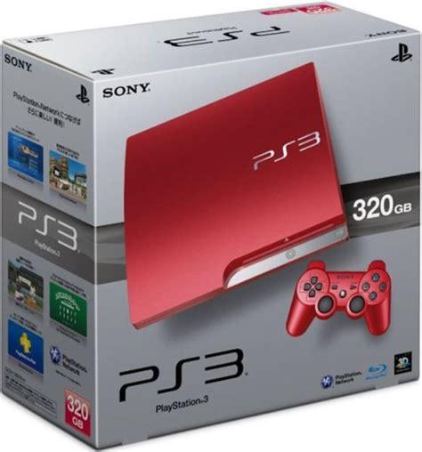 Ps 3 Slim 320gb Cfw 475 Limited Edition playstation 3 slim 320 gb console limited edition scarlet consoles zavvi