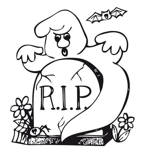 imagenes de halloween tumbas fantasma en la tumba dibujalia dibujos para colorear
