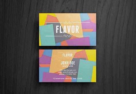flat design business card template 40 flat designs inspiration for business cards